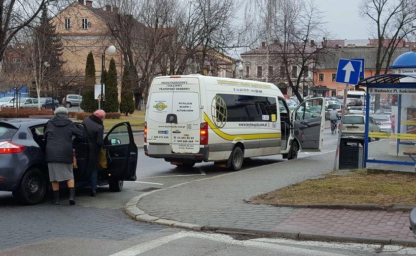 Przystanek na placu Kościuszki w Wadowicach