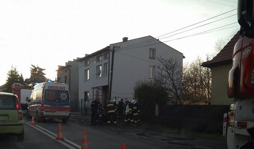 Wypadek w Sułkowicach pod Andrychowem