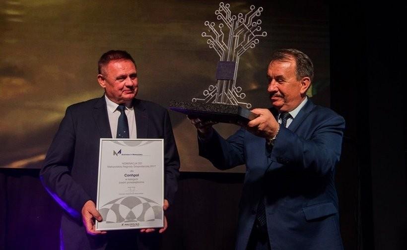 Nagrodę odebrał Henryk Konopka z firmy Conhpol