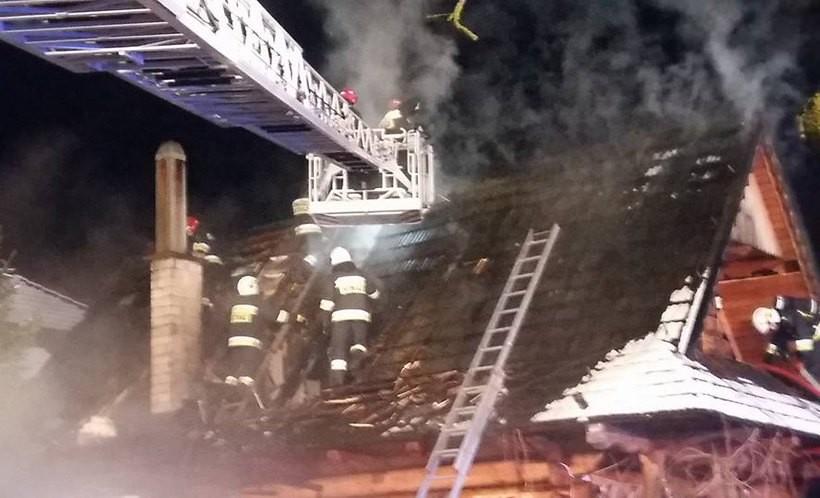 Pożar bacówki w Izdebniku