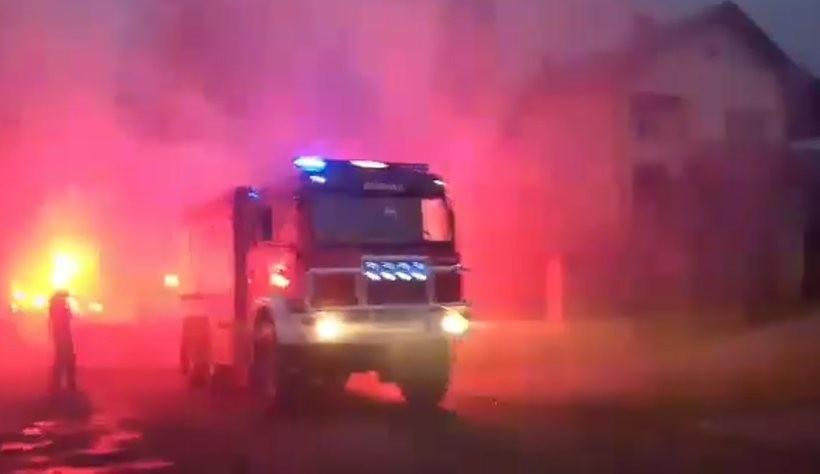 Wóz strażacki miał wielkie wejście