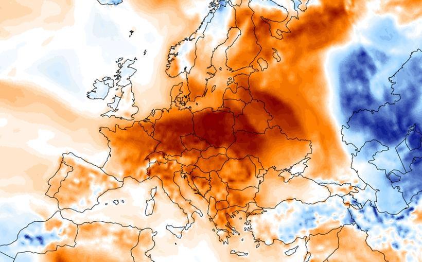 To nie jest kolejna mapa przedstawiająca smog nad Polską. To wskaźnik ciepłych temperatur jest