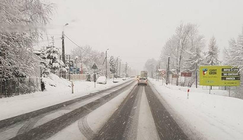 Poniedziałek (5.02) na drodze krajowej Wadowice-Andrychów