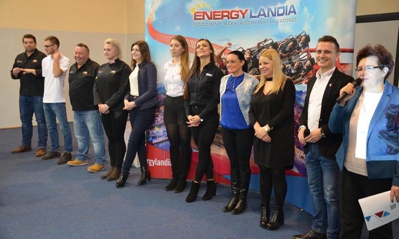 Przedstawiciele Energylandii opowiedzili ucniom ekonomika o pracy w Energylandii