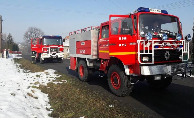 OSP Tłuczań pomagała w akcji kolegom z sąsiedniej miejscowości