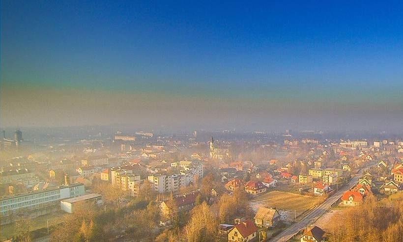Smog nad Andrychowem/Ilustracja