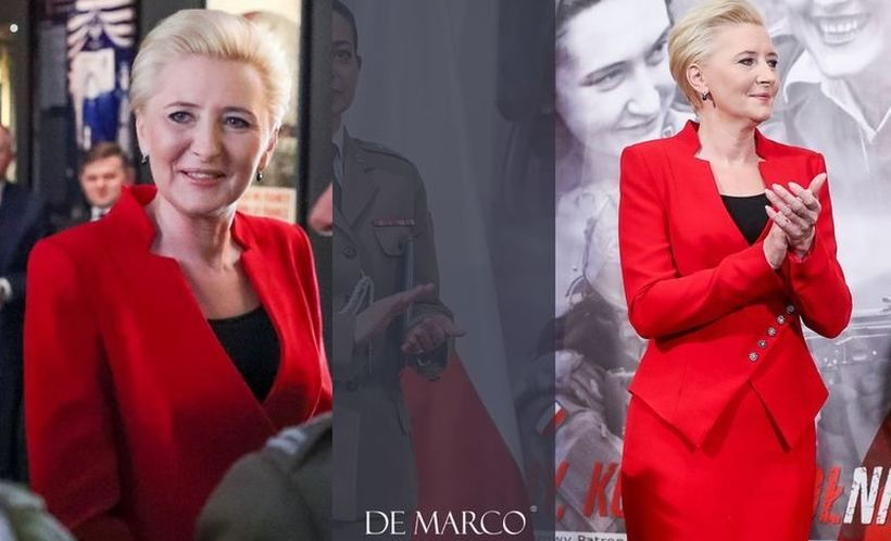Pani Agata Duda wyglądała pięknie w ubraniu marki z Frydrychowic