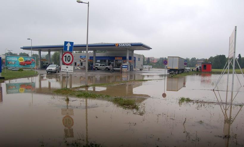 Powódź  w Wadowicach, sierpień 2014