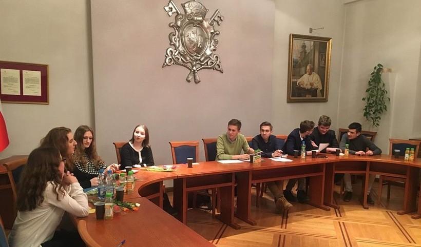 Obrady  Młodzieżowej Rady Miejskiej