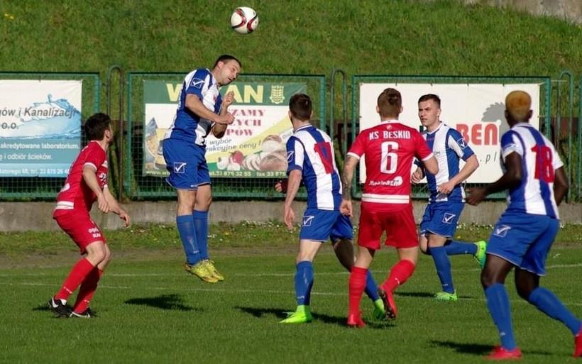 W Andrychowie mecz Beskidu i Orła zakończył się remisem 1:1