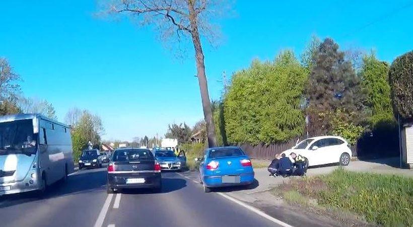 Potrącenie rowerzysty w Inwałdzie