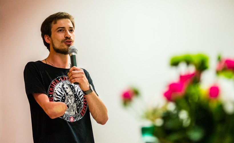 Jan Mela na spotkaniu w Wadowicach