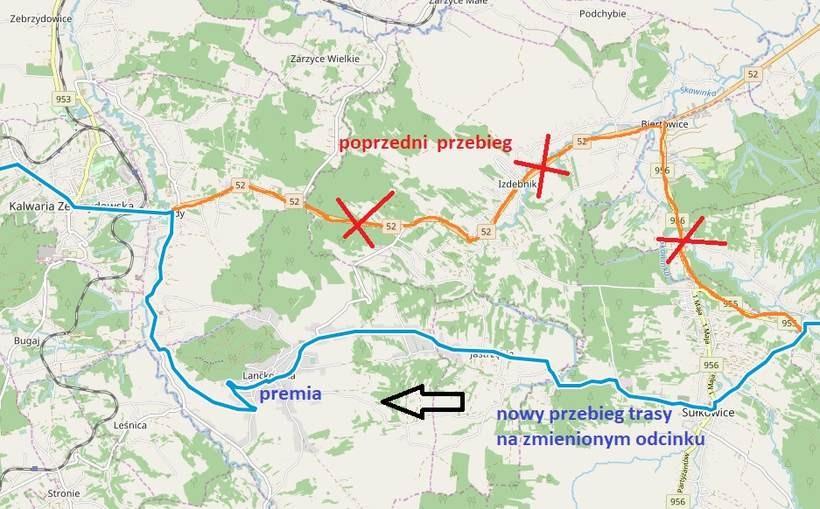 Nowy przebieg trasy nakreślony przez urzędników
