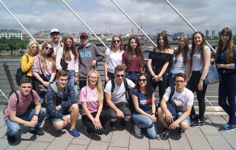 Uczniowie CKZiU nr 1 z Wadowic w Londynie