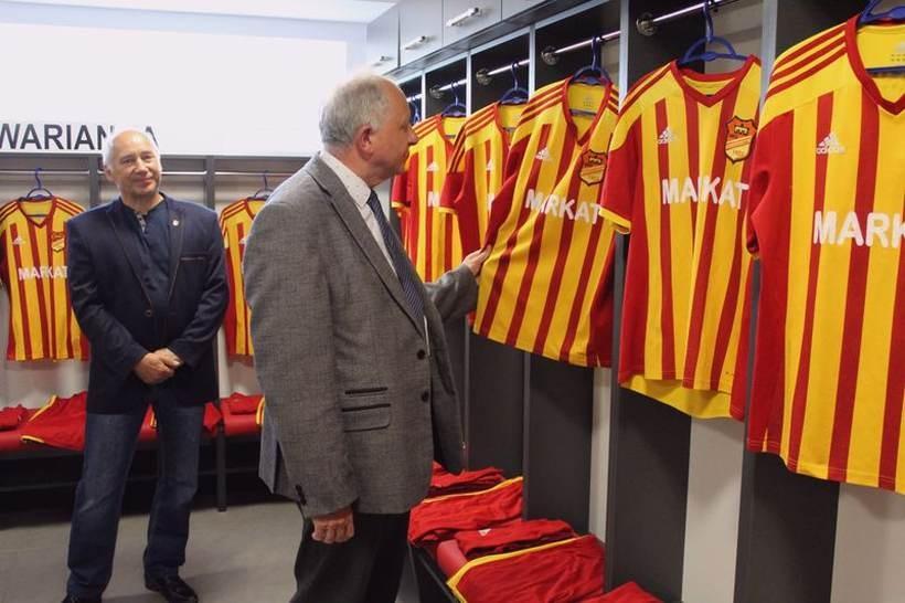 W piątek szatni wizytował burmistrz Augustyn Ormanty