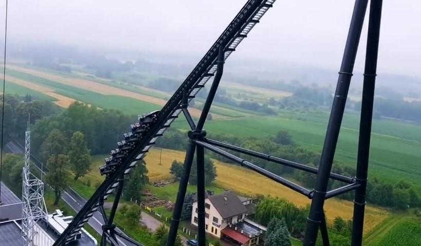 Nowy Coaster w Energylandii jest naprawdę wysoki