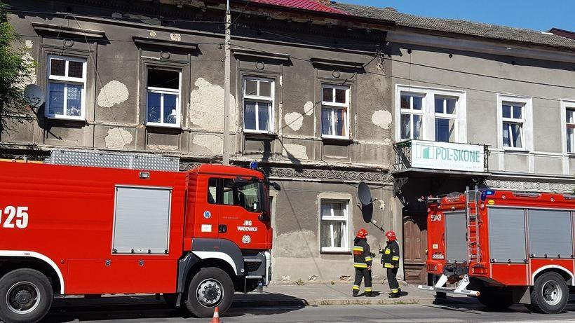 Do pożaru doszło w budynku przy ulicy Lwowskiej w Wadowicach
