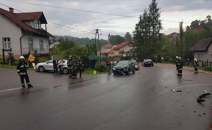 Wypadek w Stryszowie