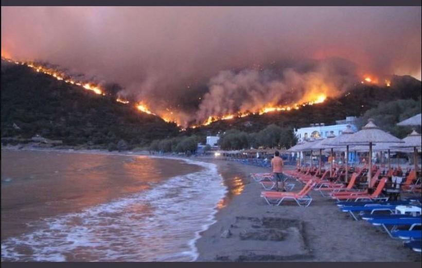 Ogień zaskoczył turystów, którzy przyjechali na wakacje do Grecji