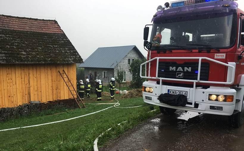 Strażacy z Zebrzydowic interweniowali w Przytkowicach