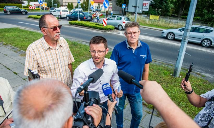 Konferencja prasowana w Wadowicach na temat BDI