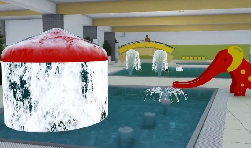 Wnętrze nowego baseny w Andrychowie