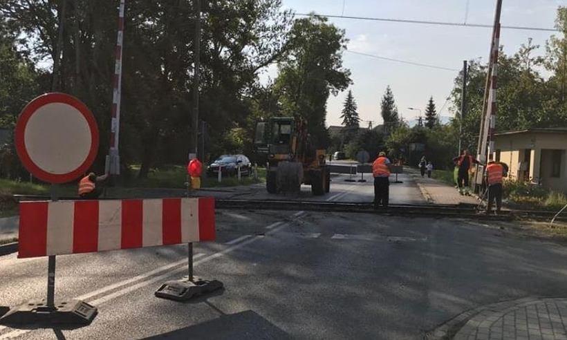 Remonty przejazdów kolejowych w Andrychowie