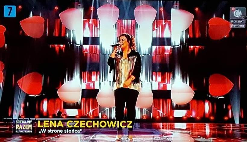 Lena Czechowicz na scenie Polsatu