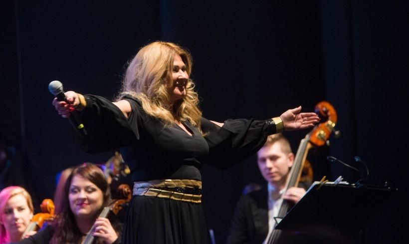 Beata Kozidrak na koncercie w Wadowicach