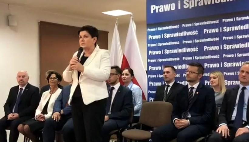 Beata Szydło w Wadowicach