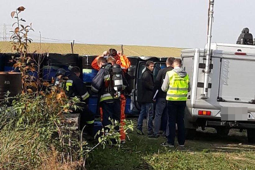 W Spytkowicach zabezpieczono podejrzane odpady