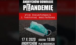 """Andrychów będzie protestował przeciwko pandemii. Burmistrz: """"Nie będziemy niczego zakazywać"""""""
