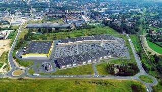 Wizualizacja parku handlowego w Andrychowie