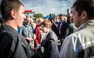 Beata Szydło na spotkaniu z rolnikami w Wieprzu