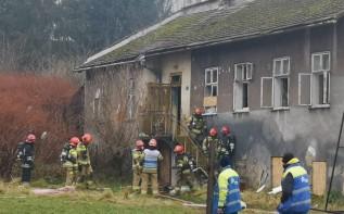 Pożar przy alei M.B. Fatimskiej w Wadowicach
