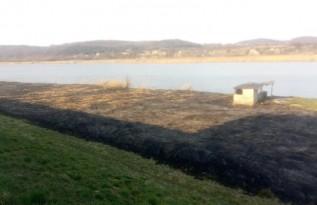Pożar trawy w Ryczowie