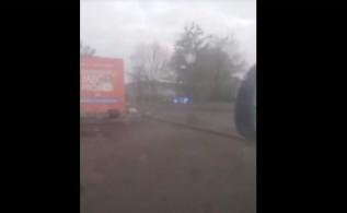 Miejsce zdarzenia nagrali przypadkowi kierowcy