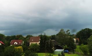 Chmury nad Wadowicami