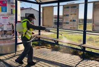 Dezynfekcja przystanków w Wadowicach
