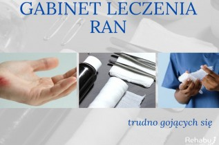 Gabinet leczenia ran trudno gojących w Tomicach. Centrum Medyczne Rehabu