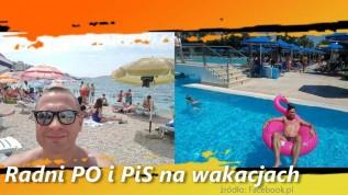 Gorące wakacje polityków. Radny PiS z Wadowic w basenie na Rodos pływa na różowym flamingu