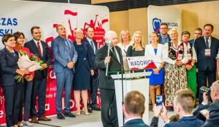 Jarosław Kaczyński na konwencji PiS w Wadowicach