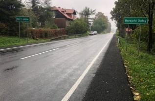 Jeden z remontów dróg na terenie gminy Wadowice właśnie się zakończył