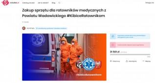 Kibice Beskidu Andrychów zakończylli zbiórkę dla ratowników w Wadowicach. Ile zebrali?