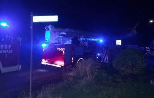 Pożar w Zagórniku przy ul. Miodowej