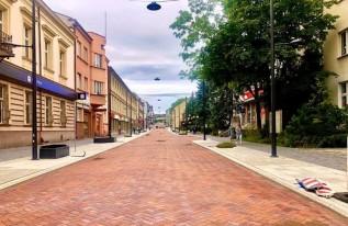 Część ulicy Lwowskiej w Wadowicach po remoncie