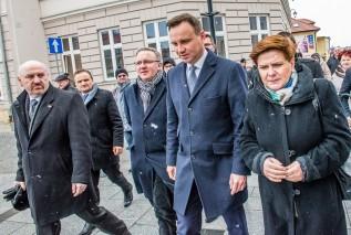 Anrzej Duda i Beata Szydło w Wadowicach