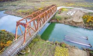Most drogowy w Zagórzy przed rozbiórką