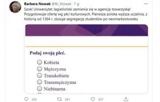 """Małopolska Kurator Oświaty o UJ: """"Zmienia się w agencję towarzyską"""""""