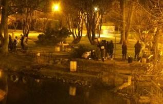 Młodzież w Parku Miejskim w Andrychowie